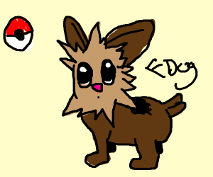 Pokemon thing as a dog