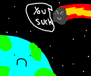 the world is bullied by a massive asteroid