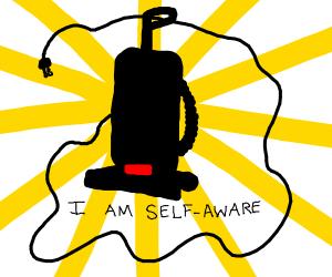 Sentient vacuum cleaner