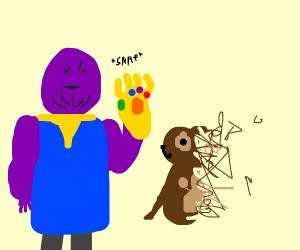 Thanos snaps doggo D: