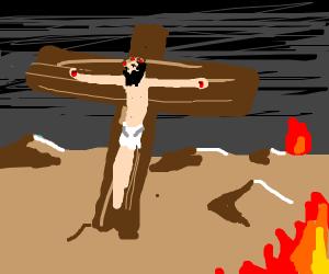 Jesus dead on the cross