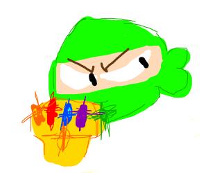 green ninja steals infinity stones