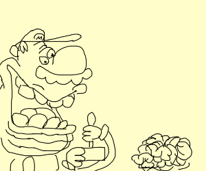 Mario under control of a brain slug