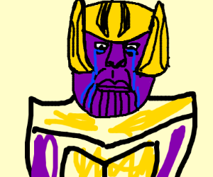 Thanos looks sad