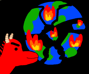 Earth has been destroyed by a dragon