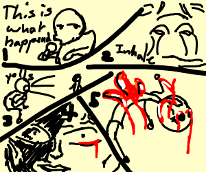 I yelled at him and he died (minicomic)
