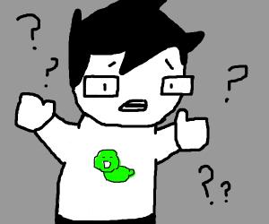 Homestuck protagonist confused