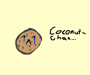 Anime coconut is sad