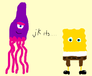 Handsome Squidward but it's Spongebob