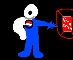 Pepsi man hates coca cola