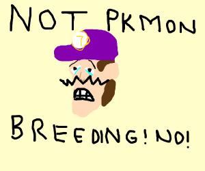 Waluigi sad about pokémon breeding