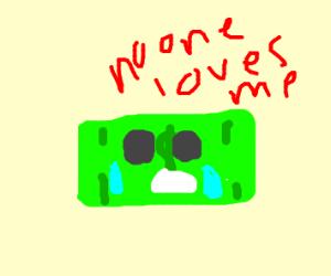 Sad, alone, but it's money (+ banknote)