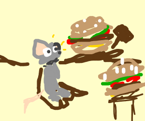 Mouse is brought to the court of burgers