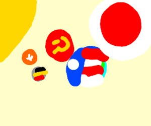 Solar system, but planets are country balls