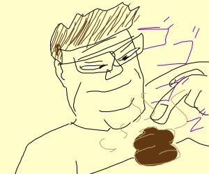Hank Hill disgusted by a turd