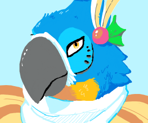smexy blue parrot