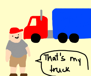 Truck Driver wearing a Hat
