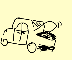 Car With Lid Open