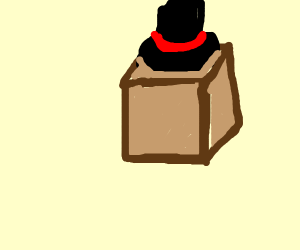 Box wearing a Hat