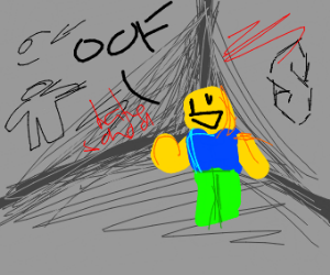 Roblox Noob in Corner says OOF
