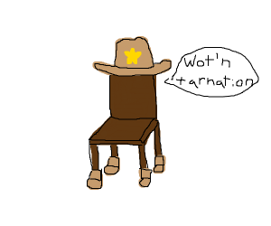 chair with 4 boots