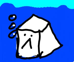 drowning sugar cube
