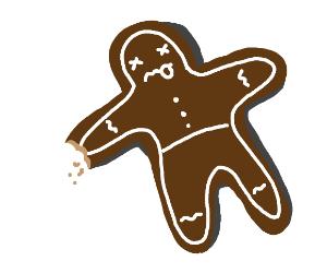 Dead gingerbread man