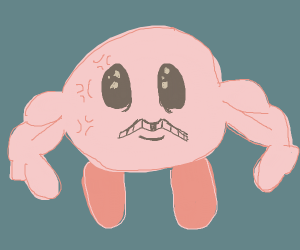 kirby but with a couple visible veins