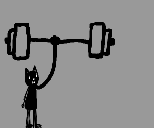 Tiny person lifting GIGANTIC barbell