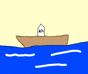 Milk on a Boat