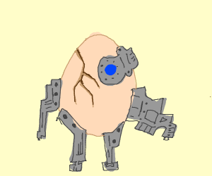 Cracked Robotic Egg