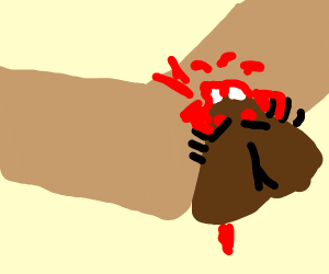 moth biting an arm