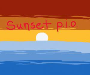 sunset p.i.o