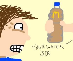 Ordering a water at McDonald's