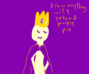 draw anything using yellow and purple