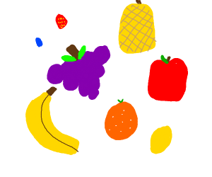a bunch of fruits