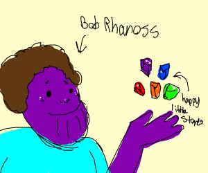 Bob Rhanoss has the happy little stones