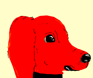 clifford the big red dog (realistic)
