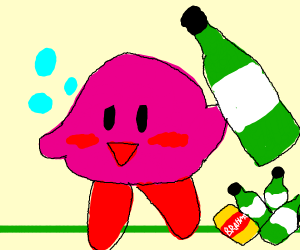 Kirby is an alcoholic