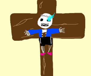 sans is crucified
