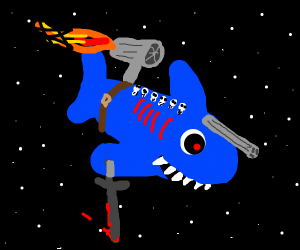 Space warrior shark