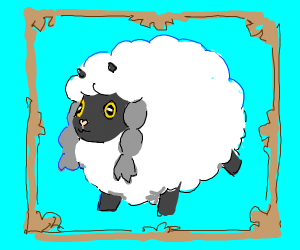 sheep with grey pigtails