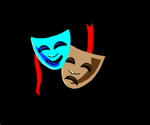 Drama mask laughing emote