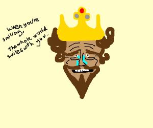the burger king is sad