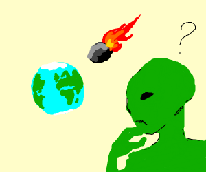 Green men wonder if they should save Earth