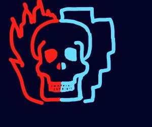 fire and ice skull (todoroki lol-)