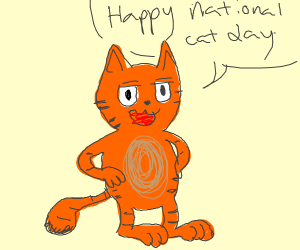 Garfield wishes you a happy national cats day