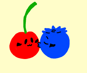 blueberry cherry is in love