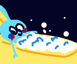 sobble takes a nice bubbly bath