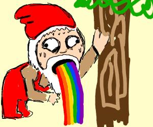 rainbow h man puking rainbows